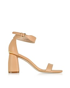 Partlynude Nude Nappa Leather Heel Sandals - Stuart Weitzman