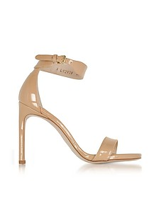 Backup Tiz Adobe Aniline Nude Patent Leather Sandals - Stuart Weitzman