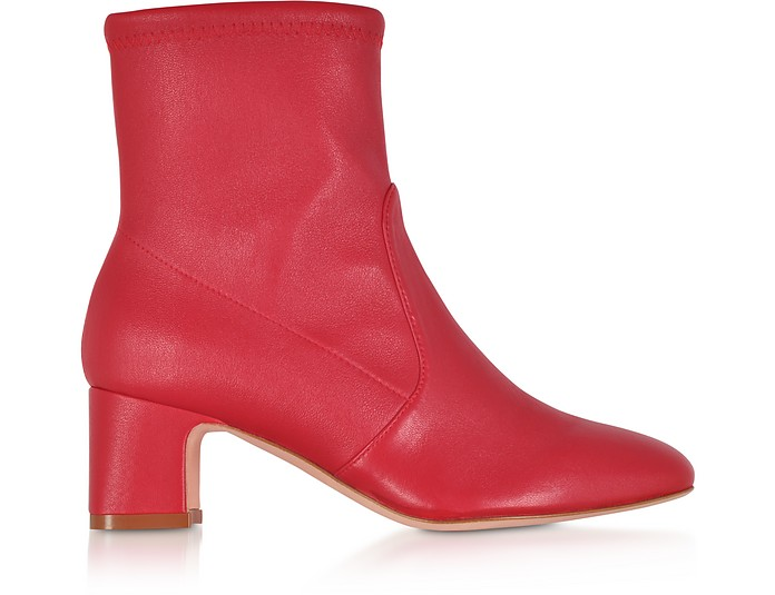 Niki 60 Red Nappa Ankle Boots - Stuart Weitzman