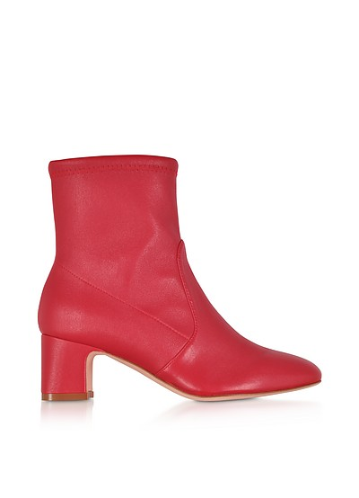 Niki 60 Red Stretch Nappa Ankle Boots - Stuart Weitzman
