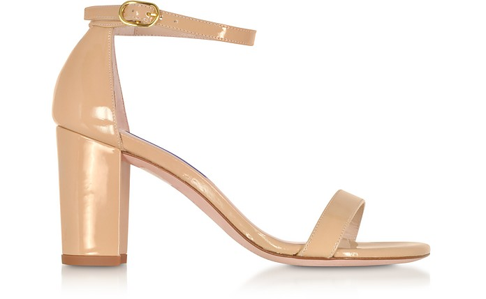 The NearlyNude Patent Leather Sandals - Stuart Weitzman