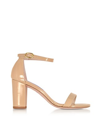 e6b9eaed2 The NearlyNude Patent Leather Sandals - Stuart Weitzman