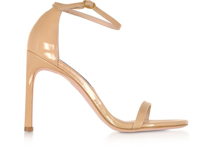 Nudistsong Adobe Patent Leather High Heel Sandals - Stuart Weitzman