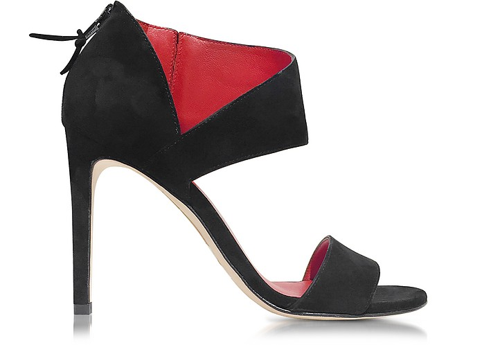 Getonup Black Suede Sandals - Stuart Weitzman