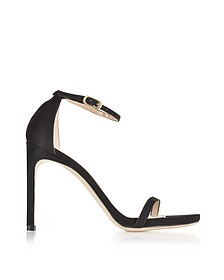 Nudistsong Black Suede High Heel Sandals - Stuart Weitzman
