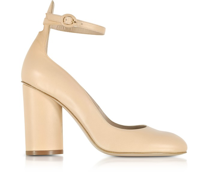 Pasadena Blush Leather Heel Pumps - Stuart Weitzman