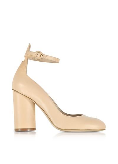Pasadena Blush Leather Heel Pumps - Stuart Weitzman