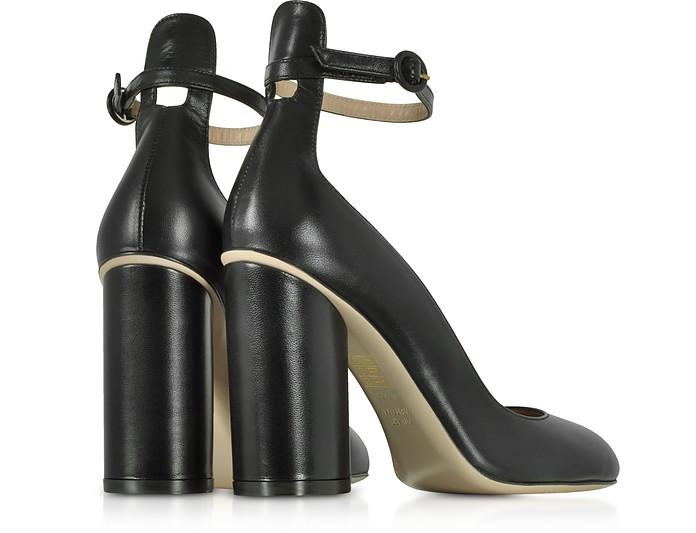 Pasadena Black Leather Heel Pumps Stuart Weitzman 37 5XJWB