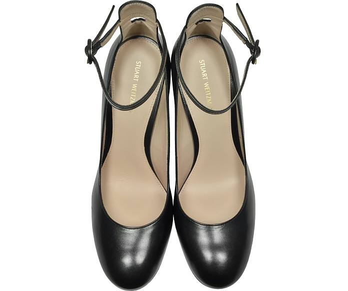Pasadena Black Leather Heel Pumps Stuart Weitzman 37 5XJWB