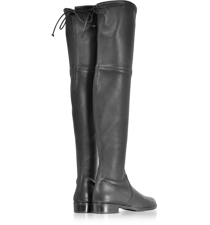d773b4606e4 Lowland Black Stretch Leather Over The Knee Boots - Stuart Weitzman.  AU 1