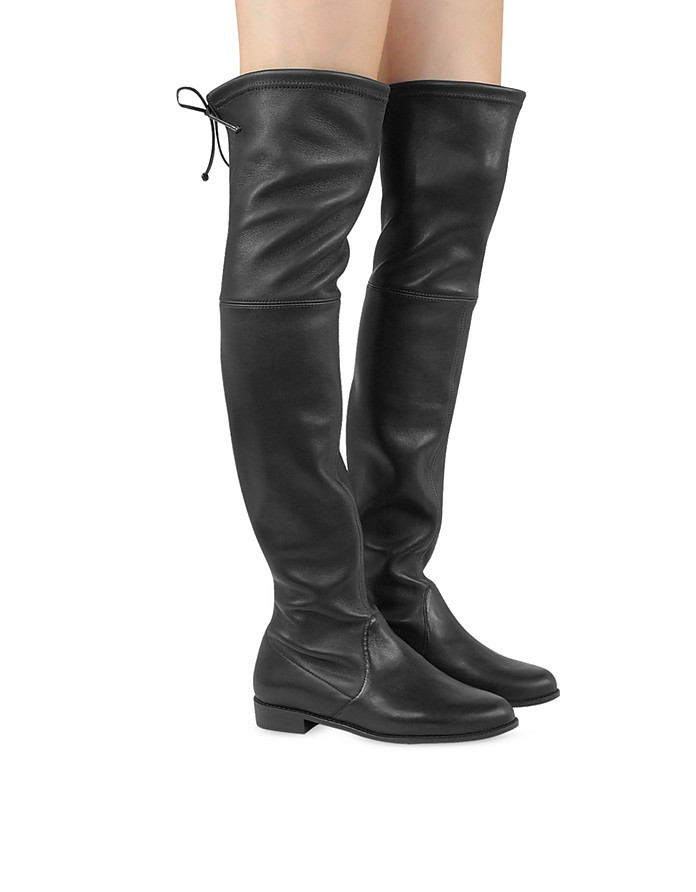 07fc40edc86 Facebook · Twitter · Pinterest · Share on Tumblr. Lowland Black Stretch  Leather Over The Knee Boots - Stuart Weitzman