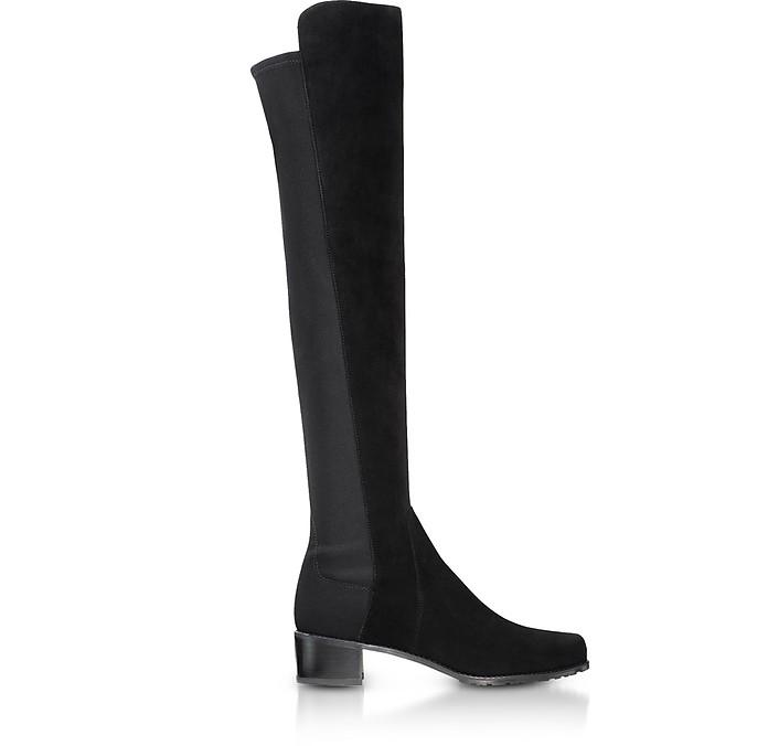 Reserve Black Suede Boots - Stuart Weitzman
