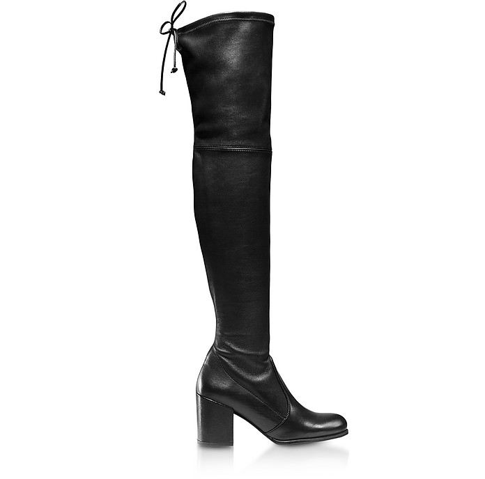 Tieland Black Lush Nappa Boots - Stuart Weitzman
