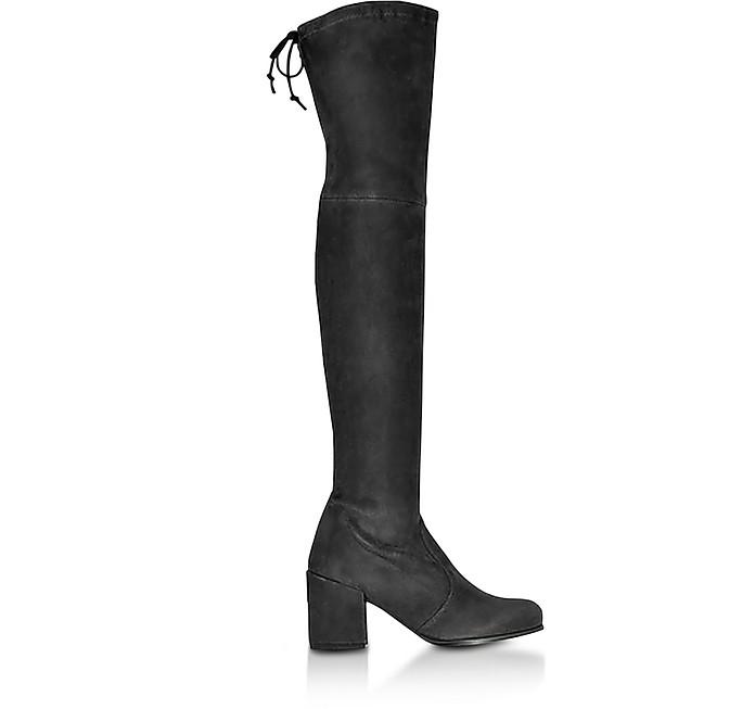 Tieland Asphalt Suede Boots - Stuart Weitzman