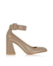 Clarisa Mouse Nappa Leather Ankle Strap Pumps - Stuart Weitzman