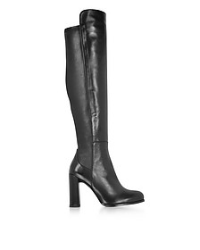 Alljill Over The Knee Stivali in Pelle Elasticizzata Nero - Stuart Weitzman