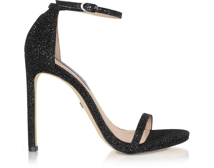 Night Star High-Heel Sandale in schwarz mit Glitzer - Stuart Weitzman