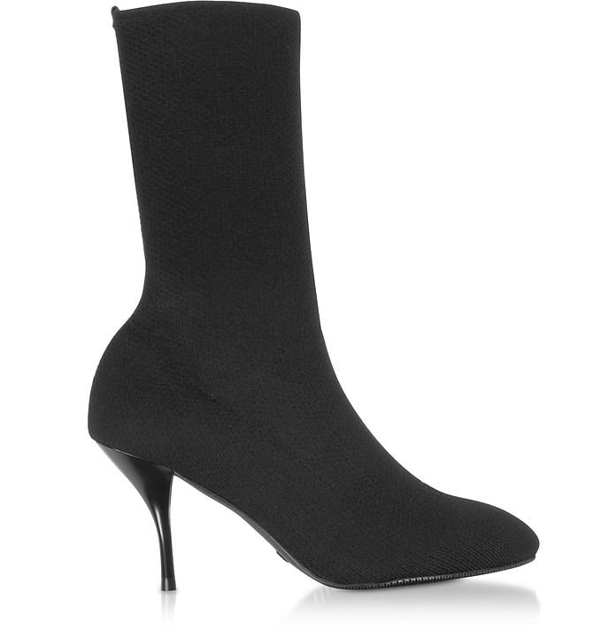 Black Knit Violetta 80 Boots - Stuart Weitzman