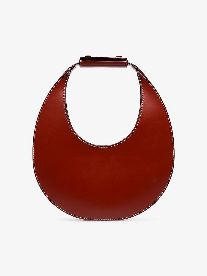 Staud Shoulder Moon Cognac Leather Shoulder Bag