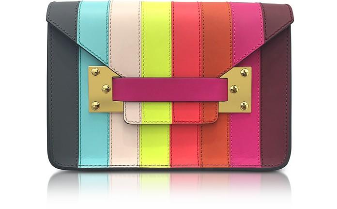 Rainbow Mini Milner Saddle Leather Envelope Bag - Sophie Hulme