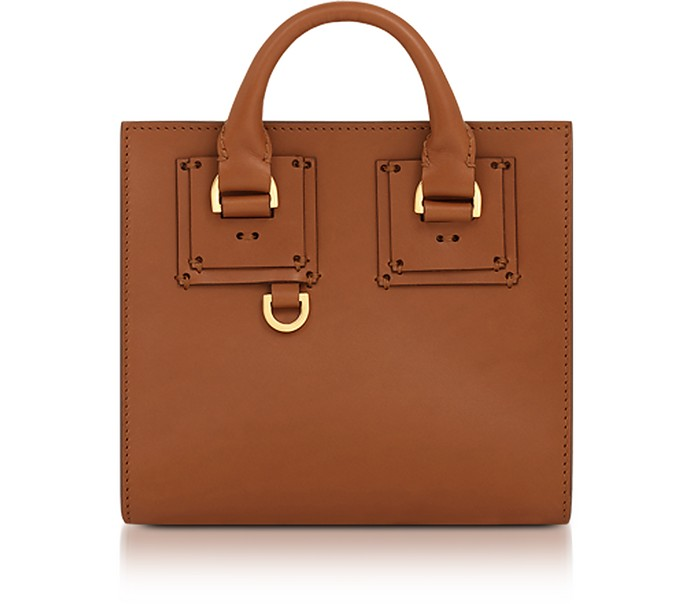 Albion Box Tote in Pelle Tan Sophie Hulme OGVk2A