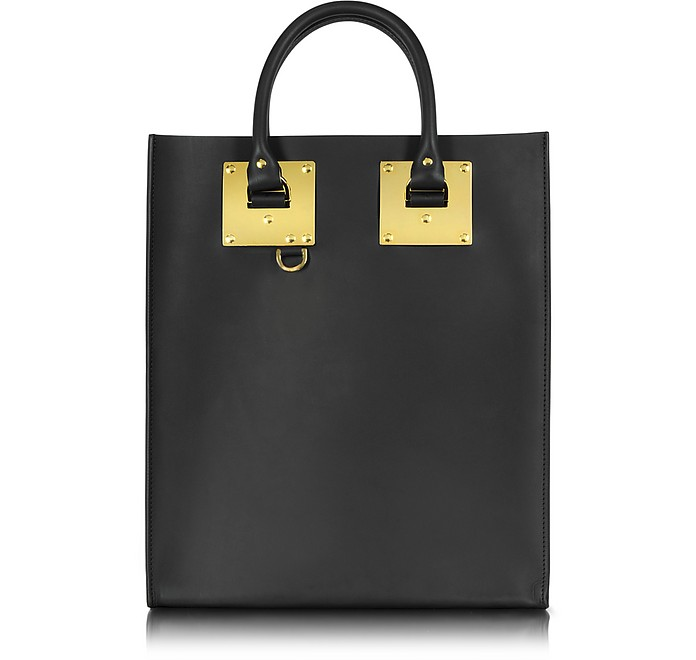 Black Albion Mini Tote Bag w/Zip Pocket - Sophie Hulme