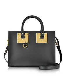 Black Albion Saddle Leather Medium Tote Bag - Sophie Hulme