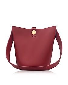 Fire Brick Leather Large Swing Bucket Bag - Sophie Hulme
