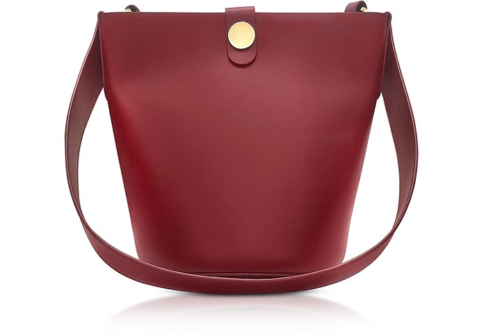 The Swing Bucket Bag in Pelle con Tracolla Sophie Hulme Fire Brick EeKBCdR