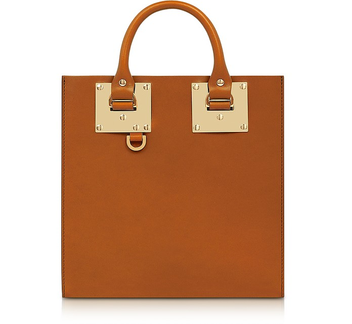 Tan Albion Square Leather Tote - Sophie Hulme