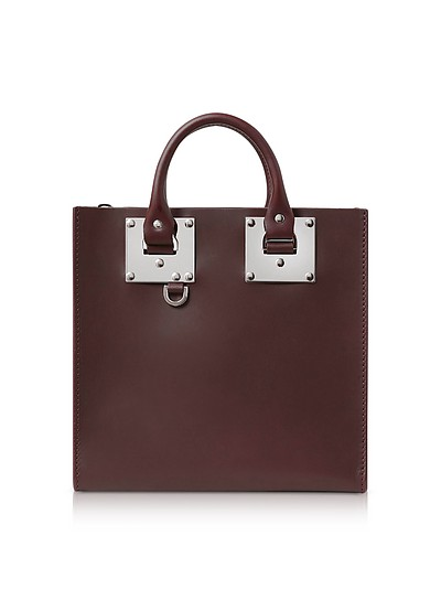 Albion Square Tote in Pelle Oxblood  - Sophie Hulme