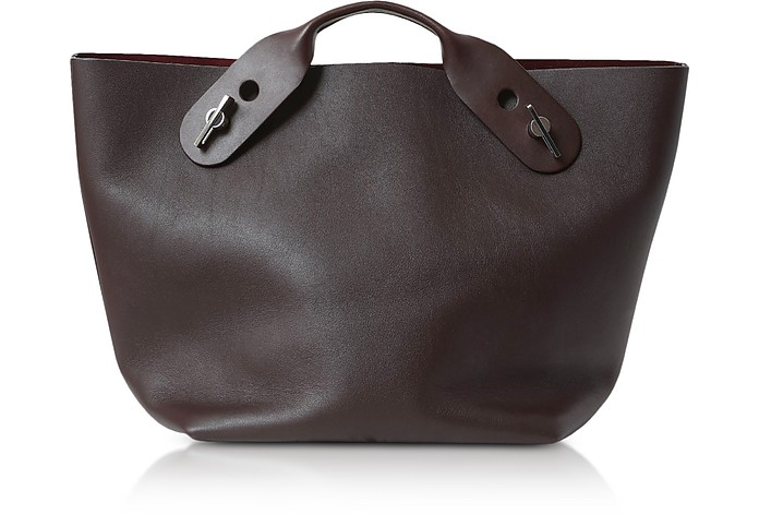 Oxblood Soft Leather Bolt Tote - Sophie Hulme