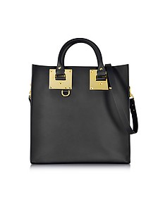 Large Leather Square Tote