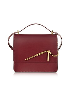 Dark Red Medium Straw Bag - Sophie Hulme