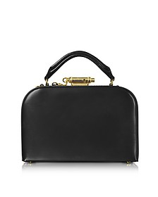 Black Leather Whistle Case Bag - Sophie Hulme