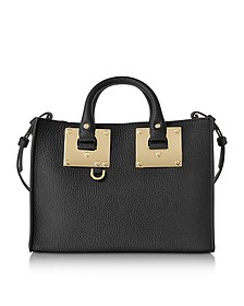 Black Leather Small E/W Tote - Sophie Hulme