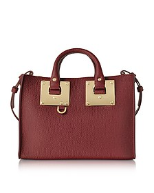 Dark Red Leather Small E/W Tote - Sophie Hulme