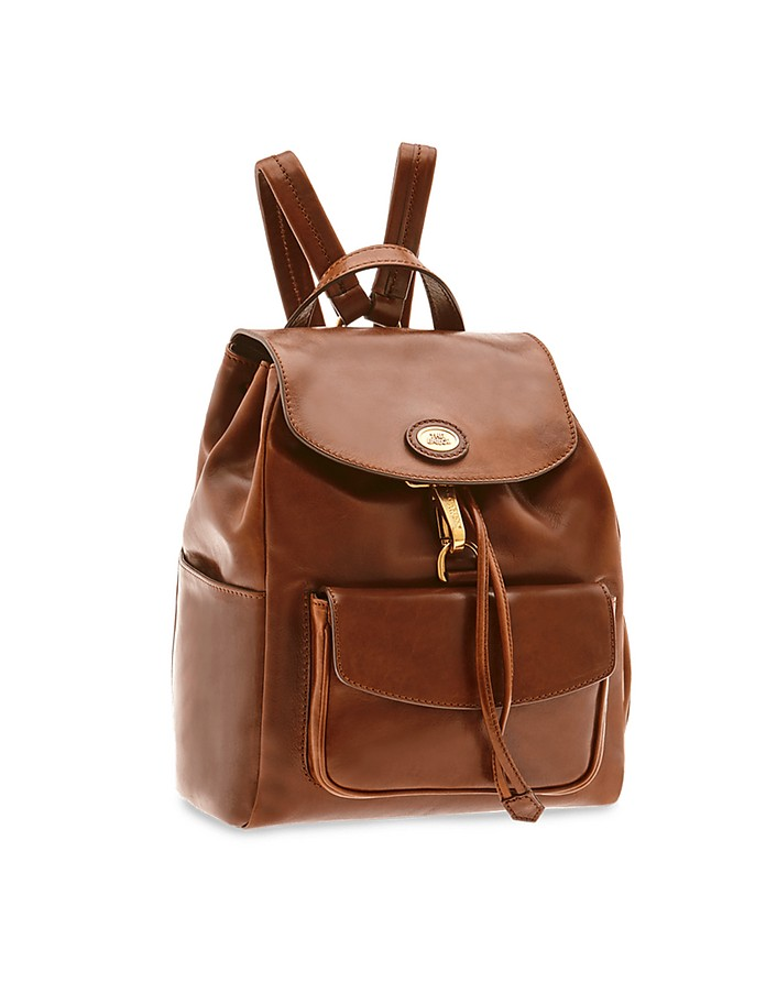 Story Donna Genuine Leather Backpack w/Front Pocket - The Bridge