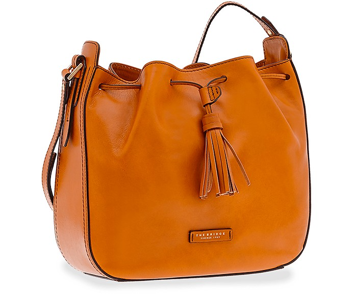 Florentin Genuine Leather Bucket Bag - The Bridge