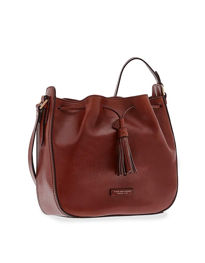 Florentin Genuine Leather Bucket Bag - The Bridge