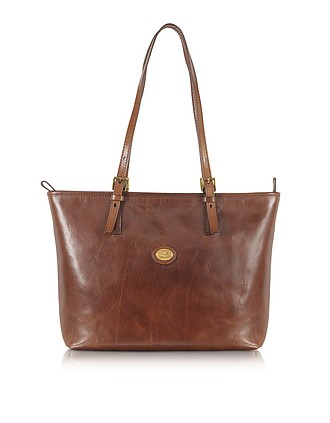4fe1926e300 Story Donna Large Brown Leather Tote - The Bridge