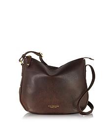 Sfoderata Soft Dark Brown Leather Shoulder Bag