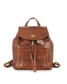 Story Donna Marrone Leather Backpack