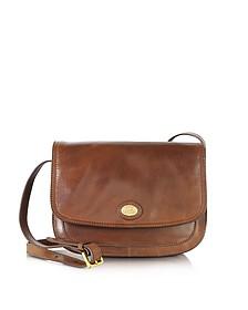 Story Donna Marrone Leather Crossbody Bag