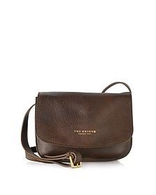 Sfoderata Soft Dark Brown Leather Crossbody Bag