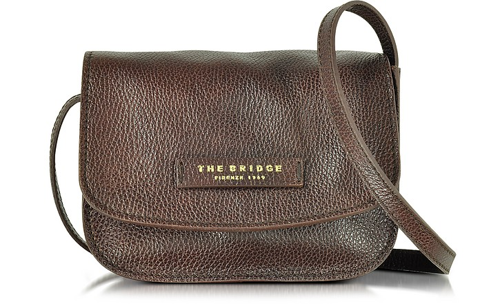 The Bridge Plume Soft Donna Dark Brown Leather Crossbody Bag at ... c619dcb8ef33