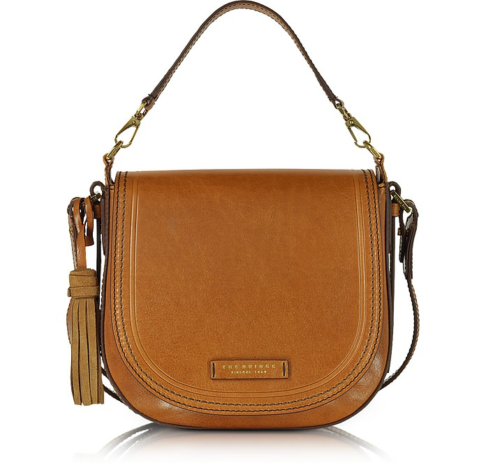 Bolso Messenger Grande de Cuero con Borlas - The Bridge