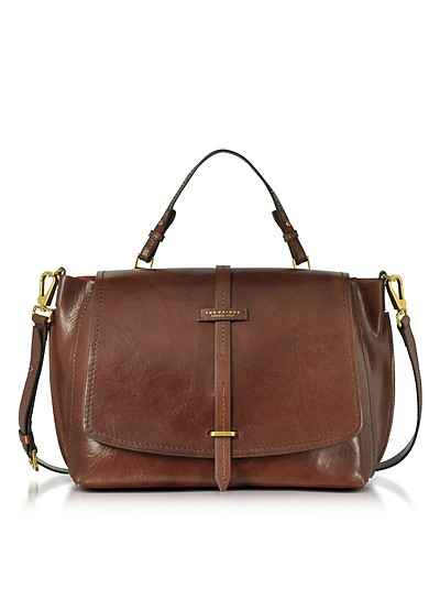 Brown Leather Dual Function Oversized Satchel Bag - The Bridge