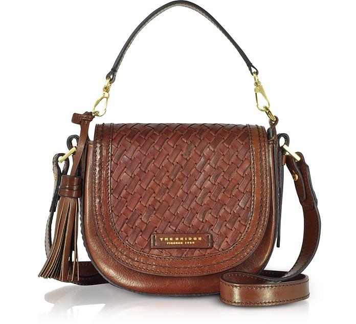 Salinger Woven Leather Medium Shoulder Bag - The Bridge