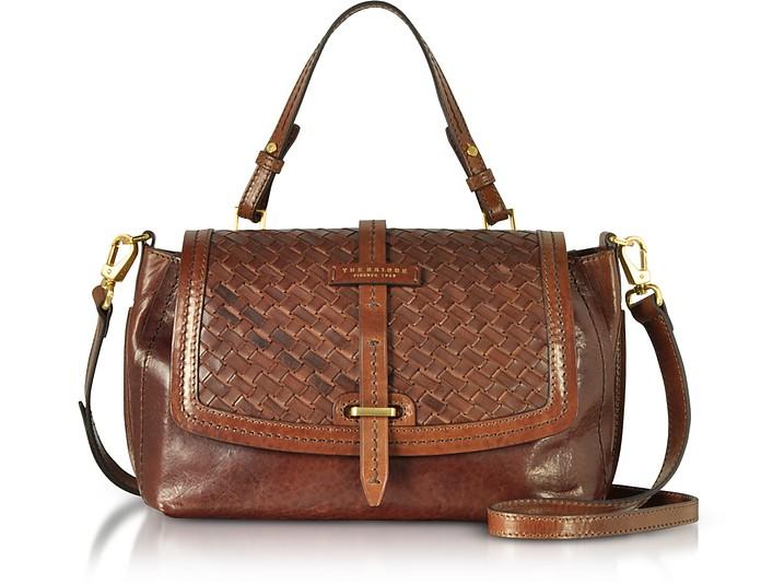 Salinger Woven Leather Medium Satchel Bag - The Bridge